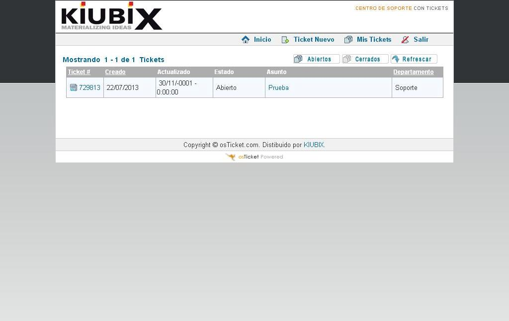 C mo consultar un ticket en osticket webirix for Consul tutorial